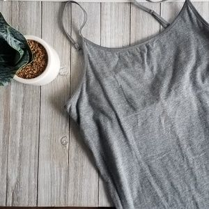 Mossimo Gray Cami with built-in bra